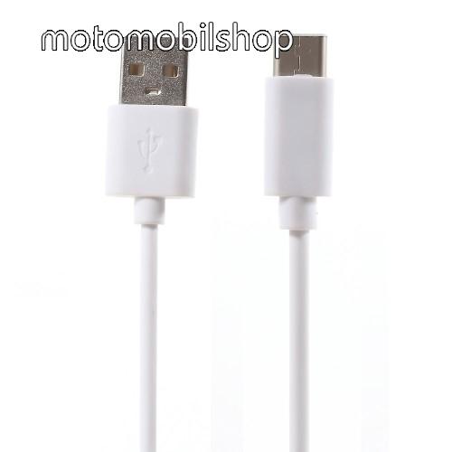 MOTOROLA Moto G8 Plus Adatátviteli kábel / USB töltő - USB 3.1 Type C - FEHÉR - 80cm