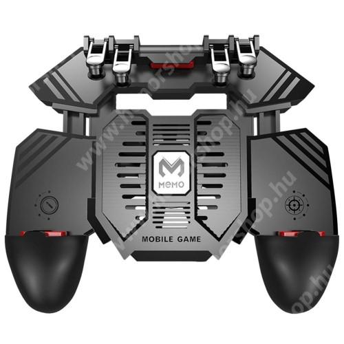 """HUAWEI Honor 9i (2018)AK77 UNIVERZÁLIS Kontroller / Joystick - ravasz FPS játékokhoz, gamepad, beépített hűtőventilátor, beépített 4000mAh-os akkumulátor tölthető a telefon játék közben, 67-90mm nyíló bölcső, 4,7-6.5""""-os méretig ajánlott - FEKETE"""