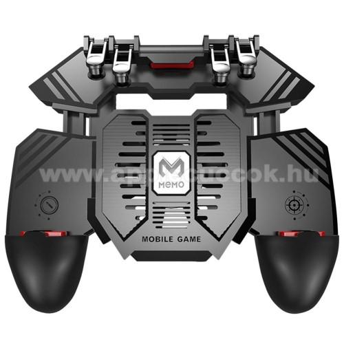 APPLE iPhone 7 PlusAK77 UNIVERZÁLIS Kontroller / Joystick - ravasz FPS játékokhoz, gamepad, beépített hűtőventilátor, beépített 4000mAh-os akkumulátor tölthető a telefon játék közben, 67-90mm nyíló bölcső, 4,7-6.5