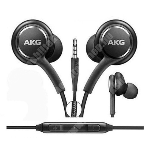 AKG sztereo headset - 3,5mm Jack, mikrofon, felvevő gomb, hangerõ szabályzó, 1,2m vezetékkel - FEKETE - EO-IG955 - GYÁRI