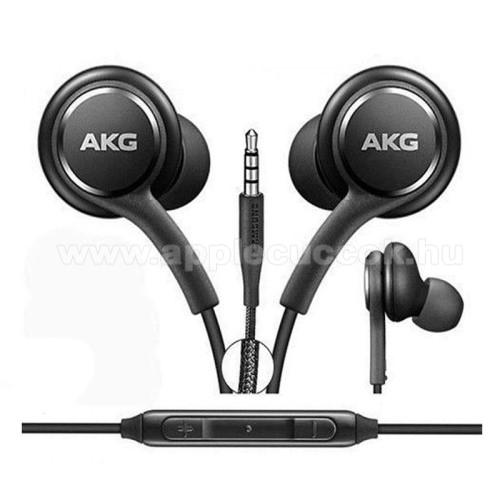 APPLE iPadAKG sztereo headset - 3,5mm Jack, mikrofon, felvevő gomb, hangerõ szabályzó, 1,2m vezetékkel - FEKETE - EO-IG955 - GYÁRI