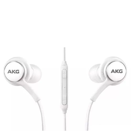 AKG sztereo headset - 3,5mm Jack, mikrofon, felvevő gomb, hangerõ szabályzó, 1,2m vezetékkel - FEHÉR - EO-IG955 - GYÁRI