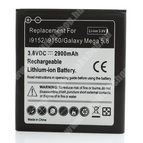 Akku 2100 mAh LI-ION (EB-B650AC kompatibilis) - SAMSUNG GT-I9150 Galaxy Mega 5.8  / SAMSUNG GT-I9152 Galaxy Mega 5.8 DUOS - CS-SMP709SL - GYÁRI