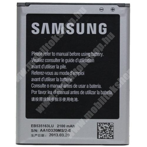 Akku 2100 mAh LI-ION - SAMSUNG EB535163 - GYÁRI - Csomagolás nélküli - SAMSUNG GT-I9080 Galaxy Grand / SAMSUNG GT-I9080 Galaxy Grand DUOS