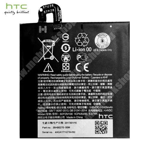 Akku 2435 mAh LI-ION (belső akku, beépítése szakértelmet igényel!) - 35H00270-00M / B2PZM100 - HTC U Play - GYÁRI