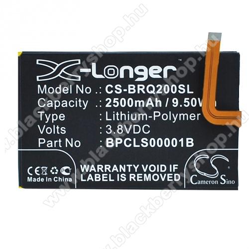 Akku 2500mAh LI-Polymer(belső akku, beépítése szakértelmet igényel! 1ICP4/59/93 / BPCLS00001B kompatibilis) - Blackberry Classic Q20 - GYÁRI