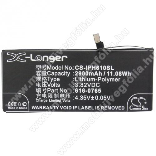 Akku 2900 mAh LI-Polymer (belső akku, beépítése szakértelmet igényel! 616-0765 kompatibilis) - CS-IPH610SL - APPLE iPhone 6 Plus - GYÁRI