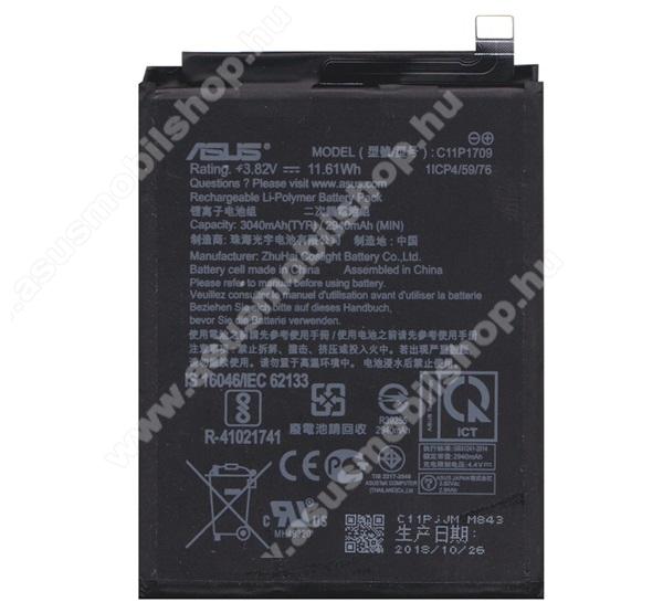 Akku 2940 mAh LI-Polymer (belső akku, beépítése szakértelmet igényel) - ASUS Zenfone Live (L1) ZA550KL - C11P1709 - GYÁRI