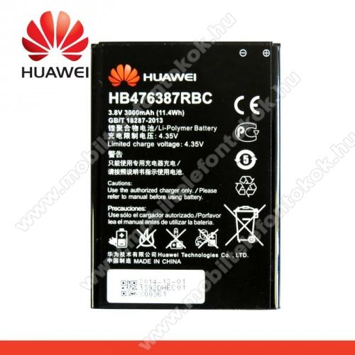 Akku 3000 mAh LI-Polymer - HB476387RBC - HUAWEI Ascend G750 - GYÁRI - Csomagolás nélküli