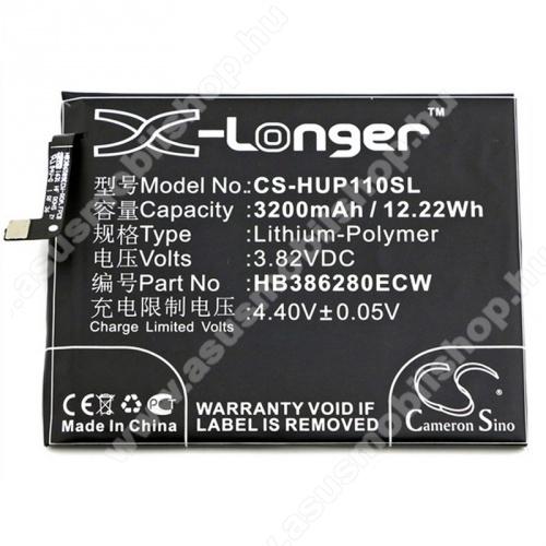 Akku 3200 mAh LI-Polymer - belső akku, beépítése szakértelmet igényel! - HB386280ECW kompatibilis - HUAWEI Honor 9 / HUAWEI Honor 9 Premium