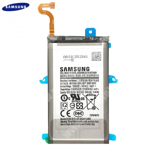 Akku 3500 mAh LI-ION (belső akku, beépítése szakértelmet igényel!) - EB-BG965ABE / GH82-15960A - Samsung Galaxy S9 Plus (SM-G965) - GYÁRI