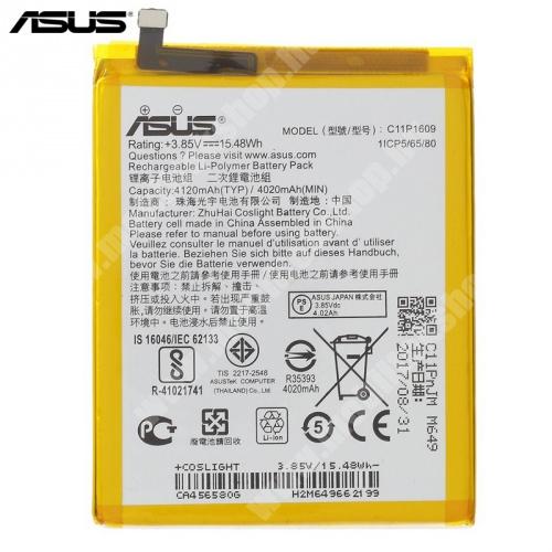 Akku 4020 mAh LI-Polymer (belső akku, beépítése szakértelmet igényel!) - C11P1609 - Asus Zenfone 3 Max (ZC553KL) - GYÁRI