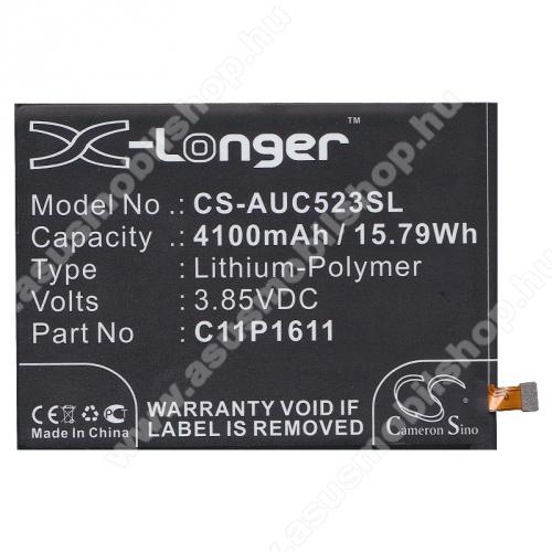 Akku 4100 mAh LI-Polymer (belső akku, beépítése szakértelmet igényel! 0B200-02300000 / C11P1609 / C11P1611 kompatibilis) - CS-AUC523SL - Asus Zenfone 3 Max (ZC520TL), Asus Zenfone 3 Max (ZC553KL) - GYÁRI