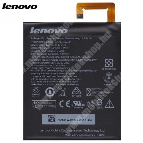 Akku 4290 mAh LI-Polymer (belső akku, beépítése szakértelmet igényel!) - L13D1P32 - Lenovo Tab 2 8.0 (A8-50) - GYÁRI
