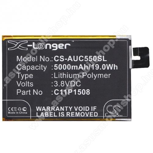 Akku 5000 mAh LI-Polymer (belső akku, beépítése szakértelmet igényel! C11P1508 kompatibilis) - Asus Zenfone Max (ZC550KL) - GYÁRI