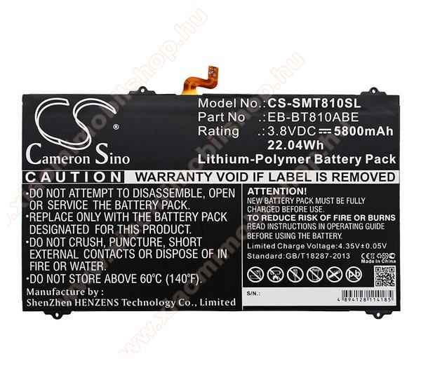 Akku 5800 mAh LI-Polymer (belső akku, beépítése szakértelmet igényel, EB-BT810ABE kompatibilis) - SAMSUNG SM-T810 / SM-T815 Galaxy Tab S2 9.7  - CS-SMT810SL - GYÁRI