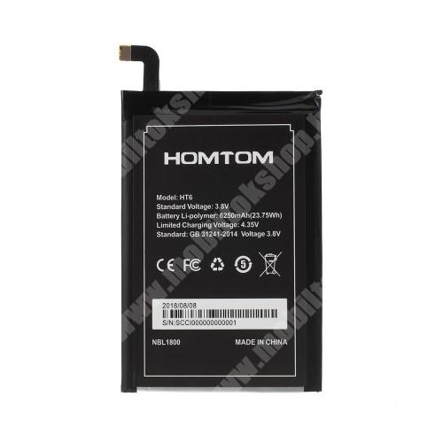 Akku 6250mAh LI-ION (belső akku, beépítése szakértelmet igényel!) - HomTom HT6 - SCCI000000000001 - GYÁRI