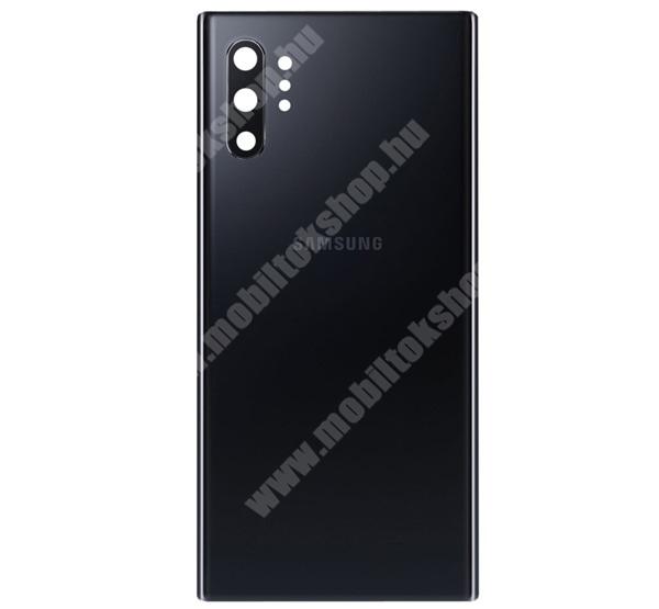 Akkufedél - FEKETE - beépítése szakértelmet igényel! - SAMSUNG SM-N975F Galaxy Note10+ / SAMSUNG SM-N976F Galaxy Note10+ 5G - GH82-20588A - GYÁRI