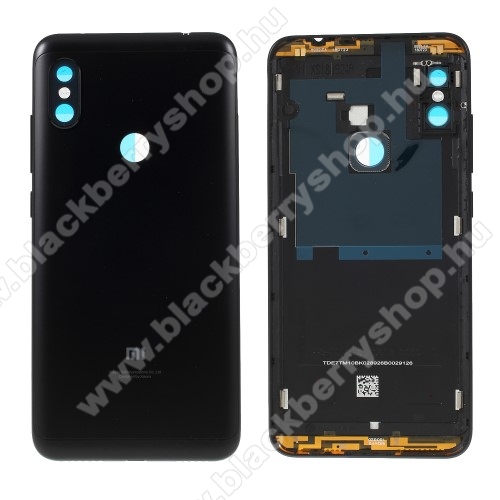 Akkufedél - FEKETE - ragasztóval - Xiaomi Redmi Note 6 Pro - GYÁRI