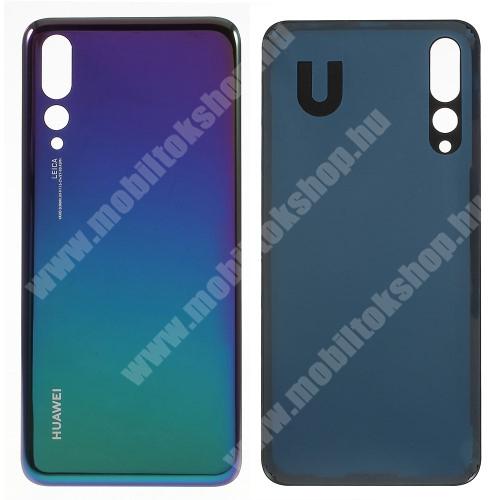 Akkufedél - KÉK - ragasztóval - Huawei P20 Pro (2018) - GYÁRI