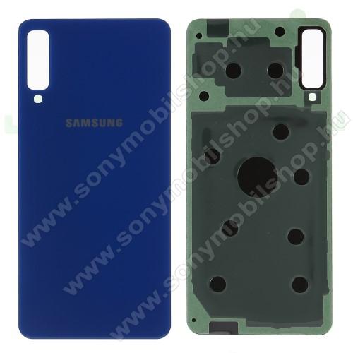 Akkufedél - KÉK - ragasztóval - SAMSUNG SM-A750F Galaxy A7 (2018)
