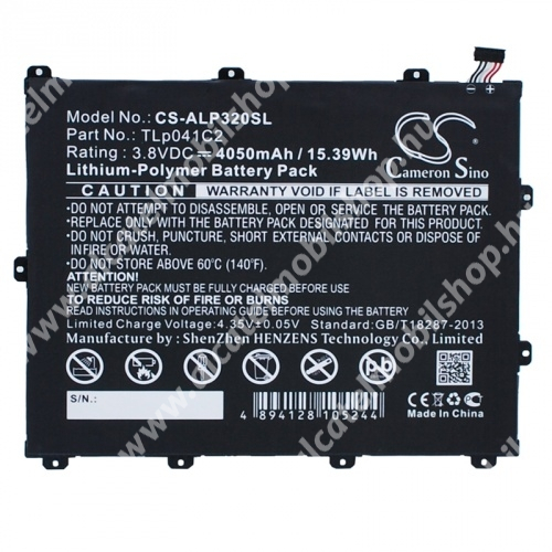 ALCATEL One Touch POP 8 WIFI (OT-P320X) akkumulátor - 4050mAH Li-ION (CAC40600005C2 utángyártott)
