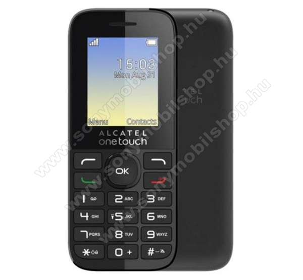 Alcatel OT-1066G/SL, Charcoal Black + Domino Fix Quick SIM