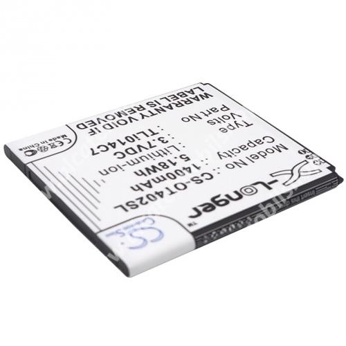 ALCATEL Pixi First - 4024D akkumulátor - 1400mAh Li-ION - (TLI014C7 utángyártott)