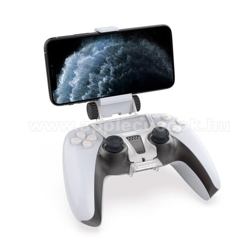 Állítható telefontartó PS5 kontrollerhez - FEHÉR