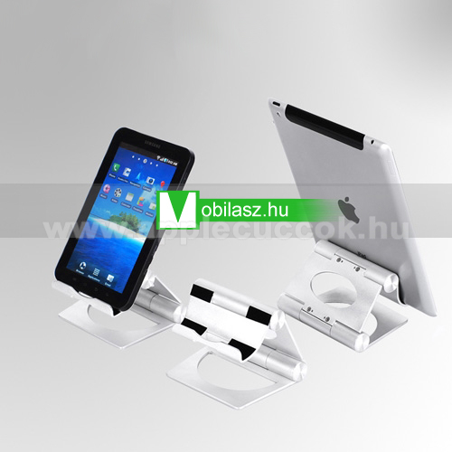 APPLE iPadAlumínium asztali tartó / állvány - UNIVERZÁLIS - EZÜST