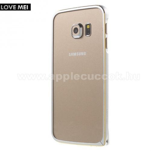 Alum�nium v�d? keret - BUMPER - LOVE MEI - EZ�ST - SAMSUNG SM-G925F Galaxy S6 Edge