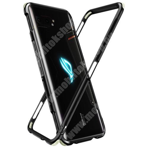 Alumínium védő keret - BUMPER, erősített sarkok, CSAK KERET! - FEKETE - ASUS ROG Phone 3 (ZS661KS) / ASUS ROG Phone 3 Strix