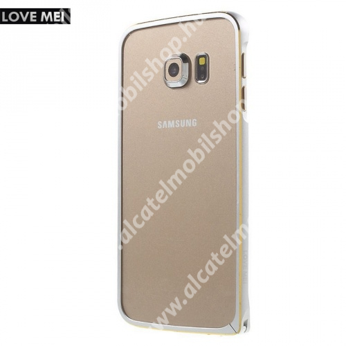 Alumínium védő keret - BUMPER - LOVE MEI - EZÜST - SAMSUNG SM-G925F Galaxy S6 Edge