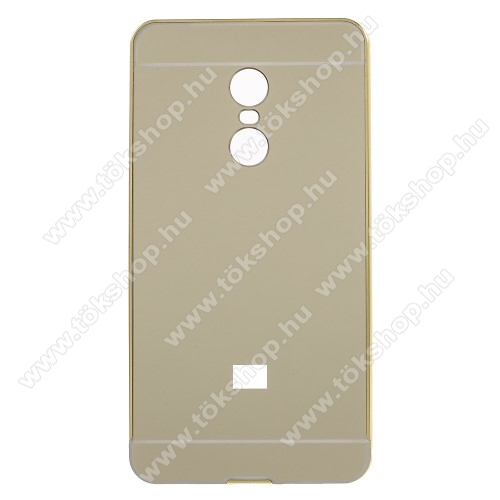 Alumínium védő tok / hátlap - ARANY - Xiaomi Redmi Note 4