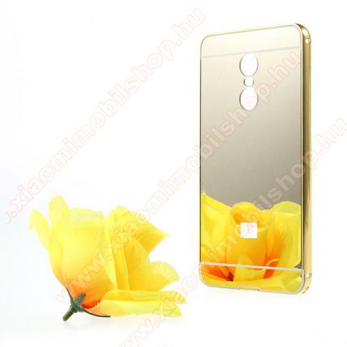 Alumínium védő tok / hátlap - ARANY - Xiaomi Redmi Note 4X (Global version)