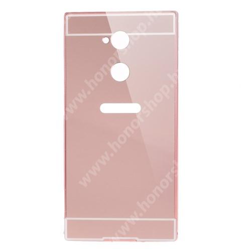 Alumínium védő tok / hátlap - ROSE GOLD - SONY Xperia XA2 Ultra