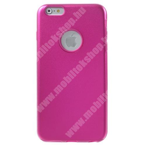 Alumínium védő tok / hátlap - szilikon betétes - MAGENTA - APPLE iPhone 6 Plus