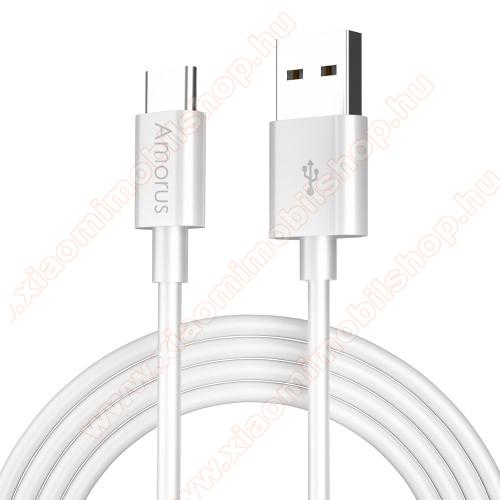 Xiaomi Mi 8AMORUS adatátvitel adatkábel / USB töltő - USB Type-C, 2.1A, 1m - FEHÉR - GYÁRI