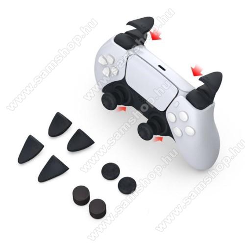 Analóg kar / ravasz / trigger védő szilikon kupak - 8db / 1szett, csúszásgátló - PS5 kontrollerhez - FEKETE