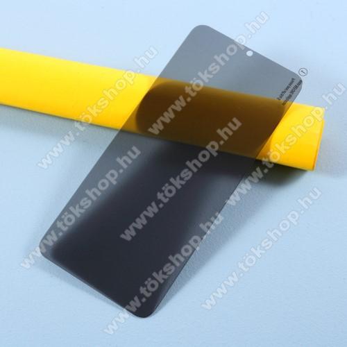 Anti-Peep előlap védő karcálló edzett üveg - ÁTLÁTSZÓ - 9H, betekintés elleni védelemmel, a teljes felületén tapad! - A TELJES KIJELZŐT VÉDI! - SAMSUNG Galaxy A42 5G (SM-A425F)