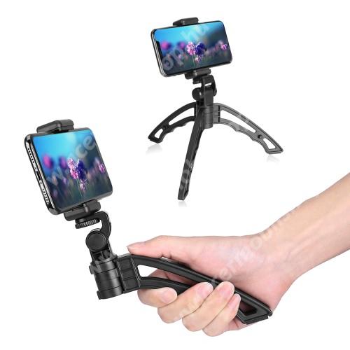 """ACER Liquid Z3 APEXEL APL-JJ04 UNIVERZÁLIS selfie bot és tripod állvány - BLUETOOTH KIOLDÓVAL, 1/4""""-os rögzítő univerzális csavarral, 180°-ban dönthető, 360°-ban forgatható - FEKETE"""