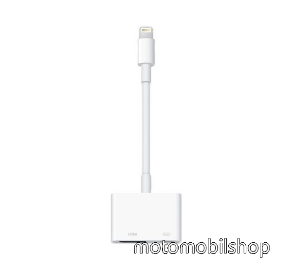APPLE adapter kábel - TV / HDMI adapter kábel, HDMI-DV, lightning - FEHÉR - MD826ZM/A - GYÁRI