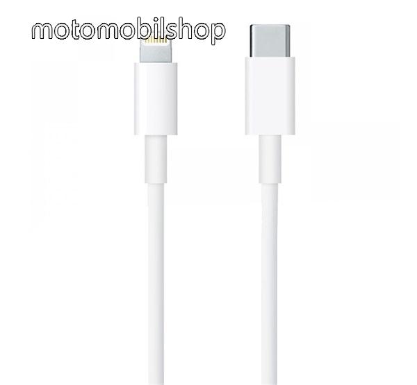 APPLE adatátviteli kábel / USB töltő - USB 3.1 Type C / Apple Lightning csatlakozás - 1m hosszú, gyorstöltés támogatás - FEHÉR - MQGJ2ZM/A - GYÁRI - Csomagolás nélküli