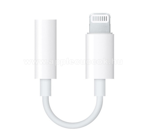 APPLE iPad 9.7 (5th generation) (2017) APPLE audio adapter - Lightning / 3,5mm Jack - FEH�R - MMX62ZM/A - GY�RI - Csomagol�s n�lk�li