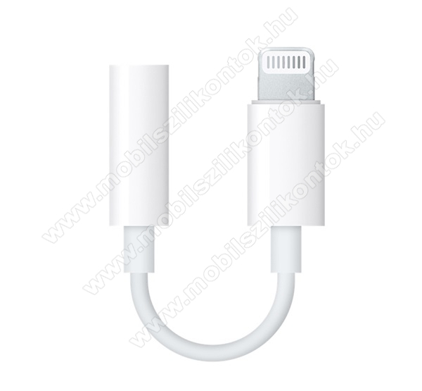 APPLE audio adapter - Lightning / 3,5mm Jack - FEHÉR - MMX62ZM/A - GYÁRI