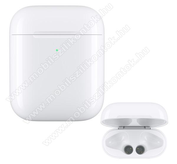 APPLE Hordozható vezeték nélküli töltőtok - FEHÉR - Apple AirPods - MR8U2ZM/A - GYÁRI