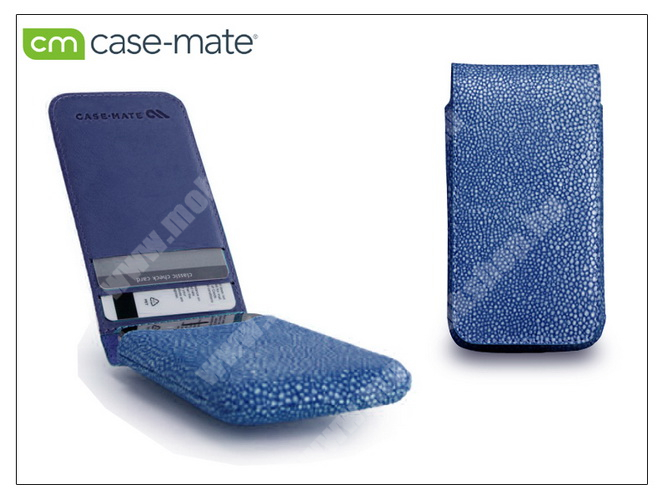 APPLE iPhone 4/4S tok - Case-Mate Stingray Foldover Pouch - blue - CM019379 - GYÁRI