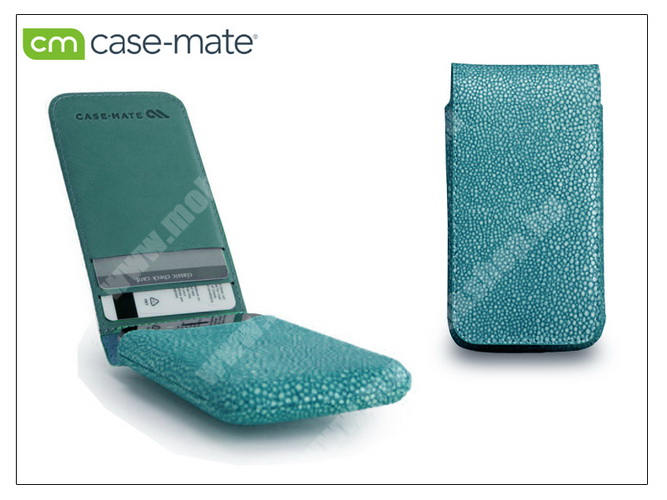 APPLE iPhone 4/4S tok - Case-Mate Stingray Foldover Pouch - turquoise - CM019377 - GYÁRI