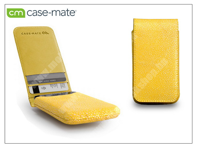 APPLE iPhone 4/4S tok - Case-Mate Stingray Foldover Pouch - yellow - CM019373 - GYÁRI