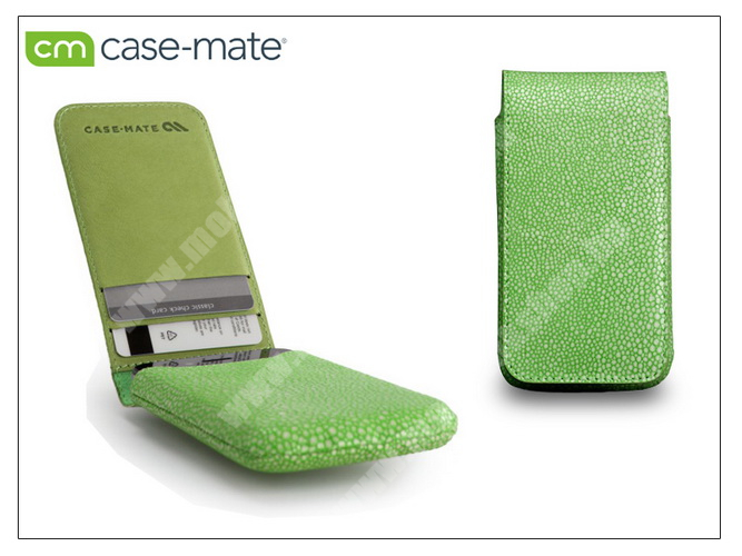 APPLE iPhone 4/4S tok - Case-Mate Stingray Foldover Pouch - green - CM019375 - GYÁRI
